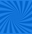 blue abstract spiral design background vector image vector image