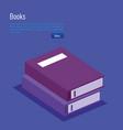 books school isometric icons vector image