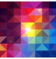 Bright colorful triangles background vector image vector image