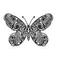 butterfly with black outline for drawing vector image