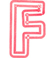 Capital letter F drawing with Red Marker vector image vector image