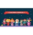 Children carnival - flat design characters website vector image vector image