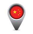 China flag pointer vector image