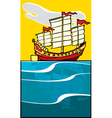 Chinese Junk vector image vector image