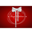 Christmas background with Shiny gift bow vector image vector image