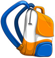 Close up school bag vector image