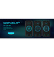 compass mobile application ui ux kit vector image vector image