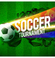 creative soccer tournament sports background vector image