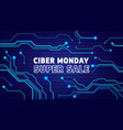 cyber monday sale poster bunner invitation vector image vector image