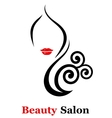 decorative beauty salon icon vector image vector image