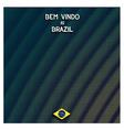 Digital Brazil background vector image vector image