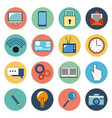 digital marketing social media icons vector image