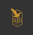 eagle sport logo design in gold color vector image vector image