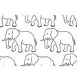 elephant contour pattern vector image vector image