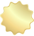 empty gold label that can be used as a seal the vector image