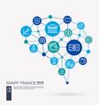 finance money bank market payment transaction vector image vector image