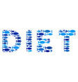 fish diet text collage vector image