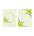 floral greeting card template design vector image vector image