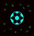 football symbol soccer ball icon graphic vector image