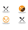 fork and spoon icon template vector image