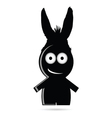 Funny people with donkey ears vector image