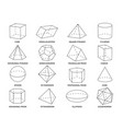 geometric 3d line shapes geometry linear forms vector image vector image