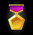 gold medal icon for game vector image