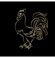 Golden outline of an cock vector image vector image