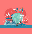 green energy flat style design vector image