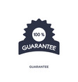 guarantee icon on white background simple element