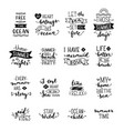 hand-drawn lettering on sea ocean theme vector image vector image