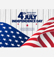 happy 4th july usa independence day vector image vector image