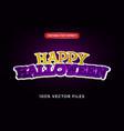 happy halloween text effect premium vector image vector image