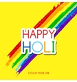 Happy Holi greeting card vector image vector image