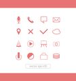 icons website set vector image vector image