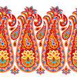 indian ethnic seamless pattern with paisley vector image vector image