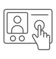intercom telephone thin line icon communication vector image vector image