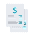 Invoice bills icon vector image