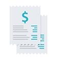 Invoice bills icon vector image vector image