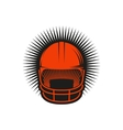 Isolated abstract red color baseball helmet logo vector image vector image