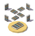 isometric stripe print book vector image