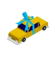 Isometric taxi car vector image vector image