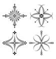 Laurel wreath tattoo set Cross stylized ornaments vector image vector image