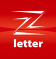 logo the letter Z in the form of arrows vector image vector image
