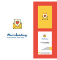 love letter creative logo and business card vector image