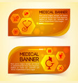 medicine orange horizontal banners set vector image vector image