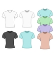 Mens short sleeve t-shirt vector image