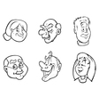 old people faces bw vector image