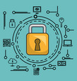 online security with padlock icons vector image vector image