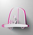 Paper Cut Man Driving Car vector image vector image